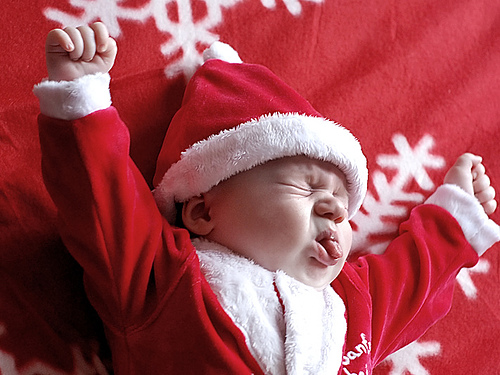 this baby does not like christmas